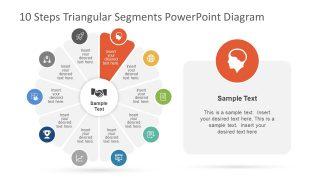 Triangular Segments In Circular PowerPoint