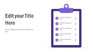 5 Step Check List PowerPoint Template