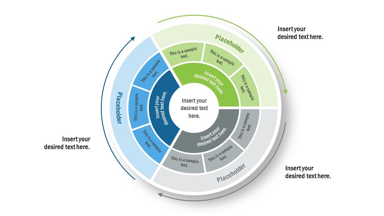 Multi-Layer PowerPoint Circular Diagram