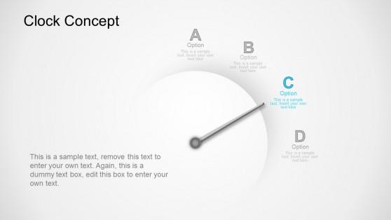 Option C Clock Business Concept PowerPoint Templates