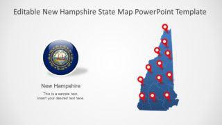 Editable New Hampshire Map for PowerPoint