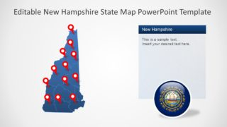 Business Silhouette Map of New Hampshire