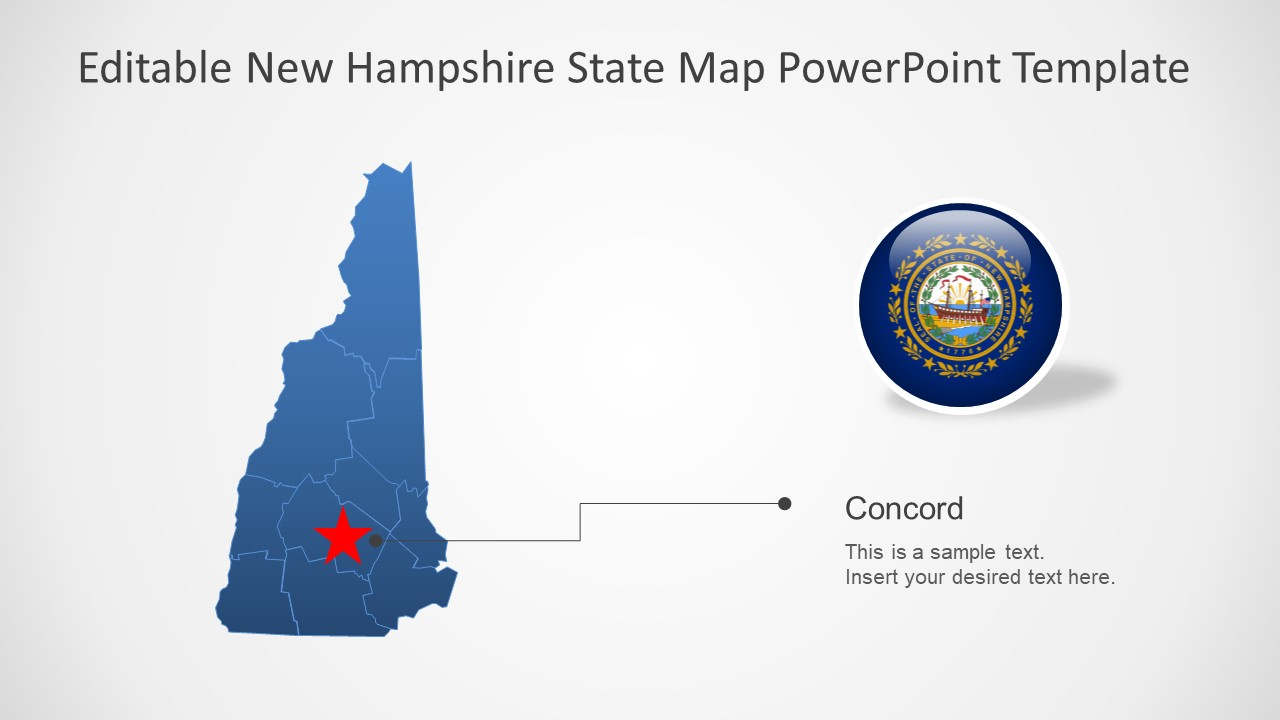 Presentation of New Hampshire Map