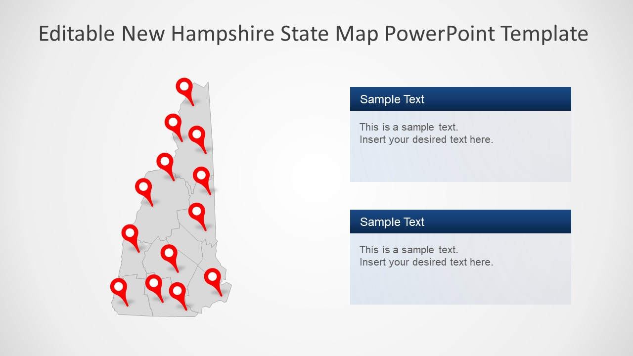 PowerPoint New Hampshire Silhouette
