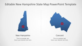 PPT Map of New Hampshire State