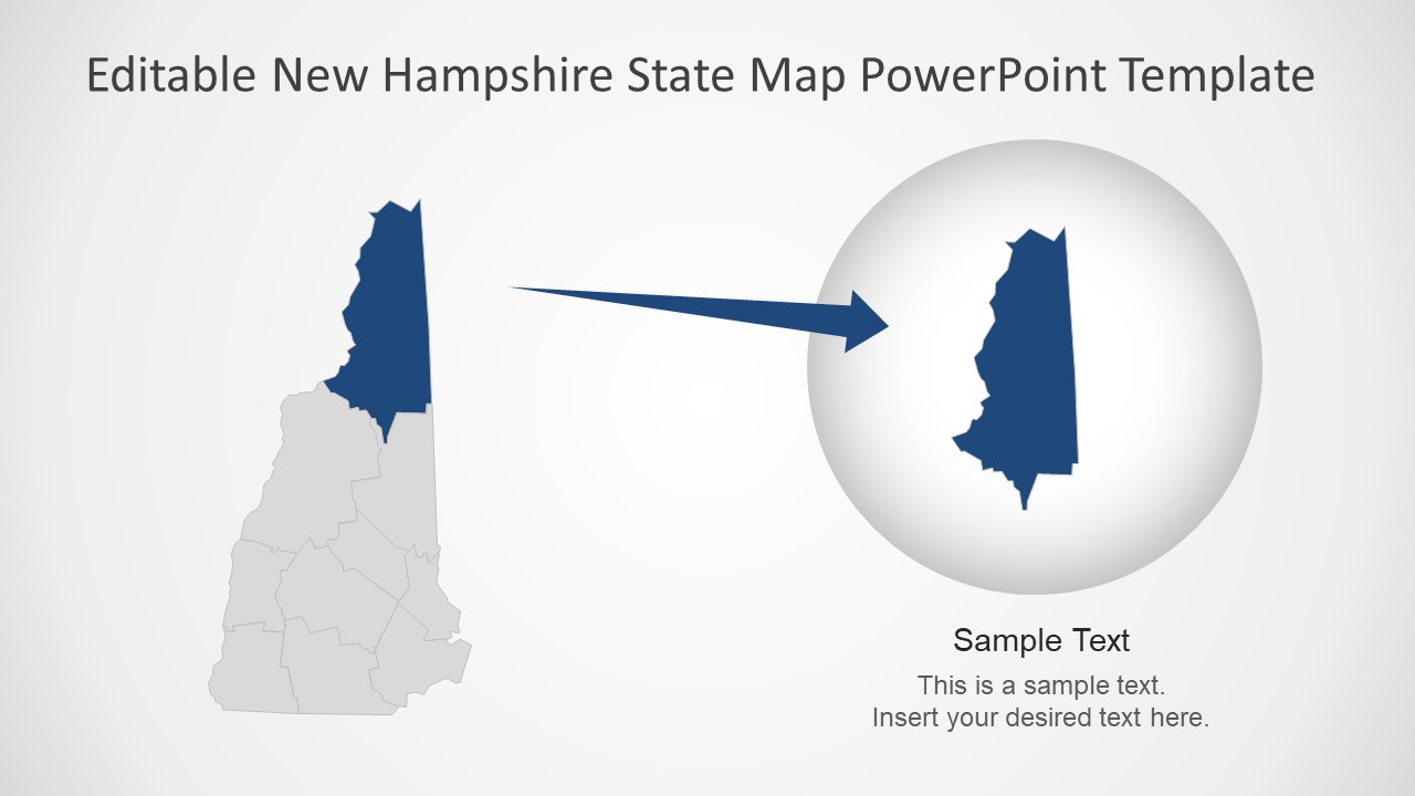 Presentation of New Hampshire Map