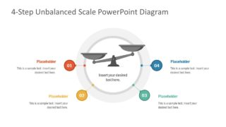 4-Step Unbalanced Scale PowerPoint Template