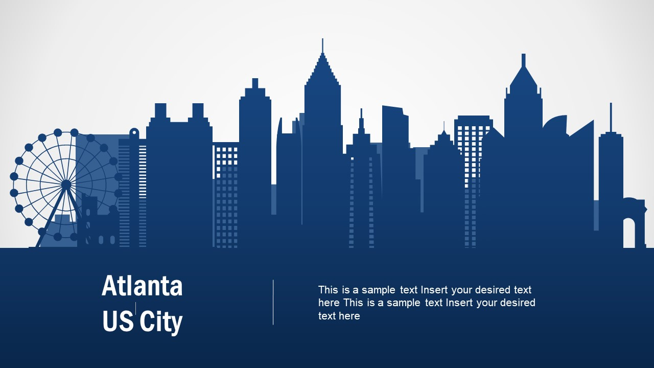 Silhouette Map Template of Atlanta