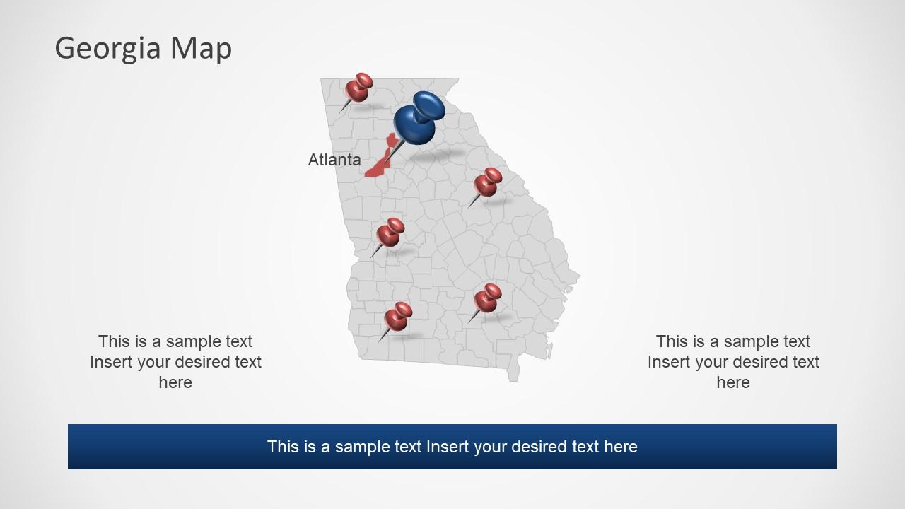 Editable Map of Atlanta