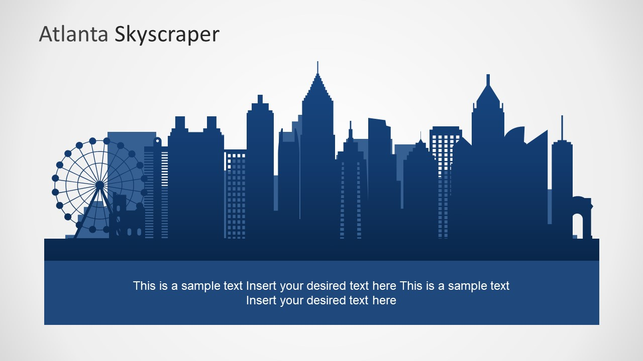 City Skyline PowerPoint Silhouette