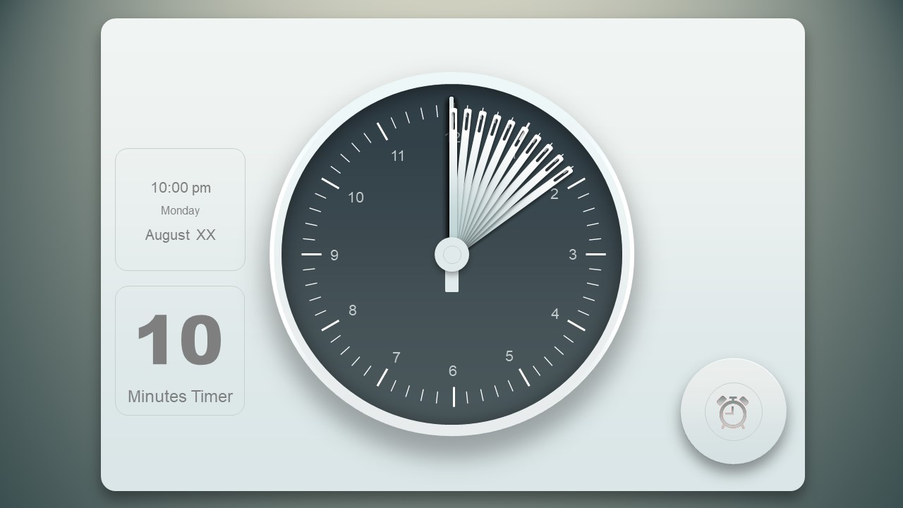 Analog Clock Template for Timer