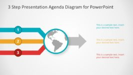 3 Steps Agenda PowerPoint Diagram