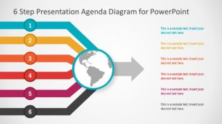 6 Step Presentation Agenda Diagram for PowerPoint