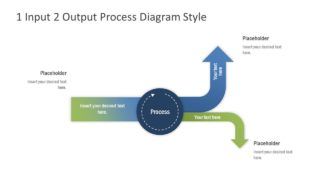 1 Input 2 Output Simple Process Diagram for PowerPoint