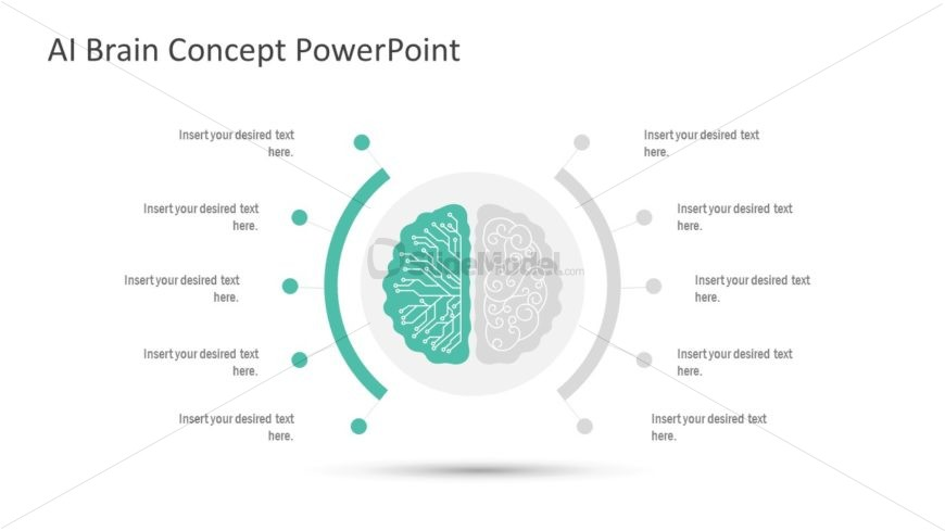PowerPoint Human Brain Graphics