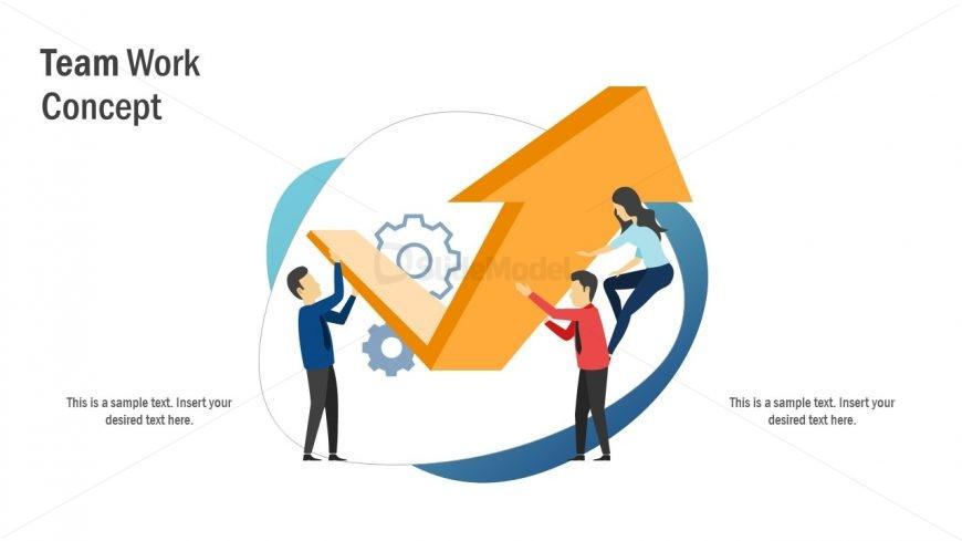 Flat Graphics of Teamwork Template