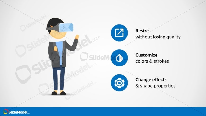 Virtual Reality Illustration PowerPoint