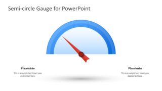 Editable Semi-Circle Gauge for PowerPoint