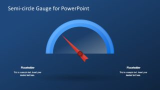 Presentation of KPI Gauge Speedometer