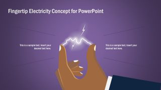 Tip of a Finger Electricity Concept PowerPoint Template