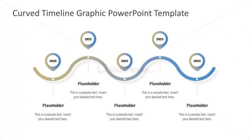 5 Steps Curved Timeline Template
