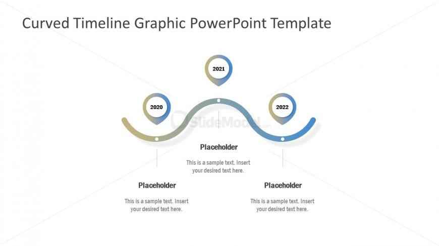 Flat Gradient Timeline Template