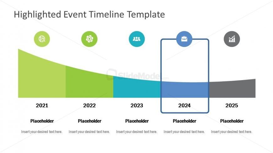 Flat Shapes Horizontal Timeline