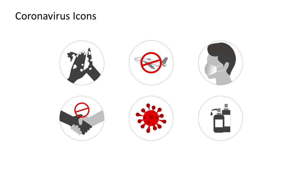Coronavirus Awareness Icons for Prevention