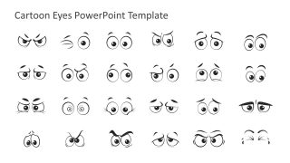Cartoon Eyes PowerPoint Template