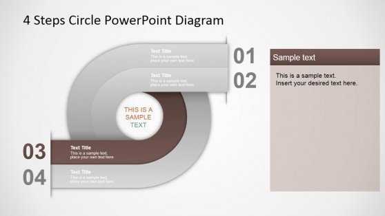 4 Steps Circular PPT Diagram