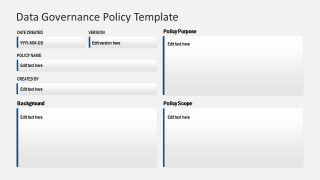 Data Governance Policy Template for PowerPoint