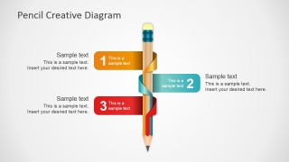3 Components Pencil Diagram for PowerPoint