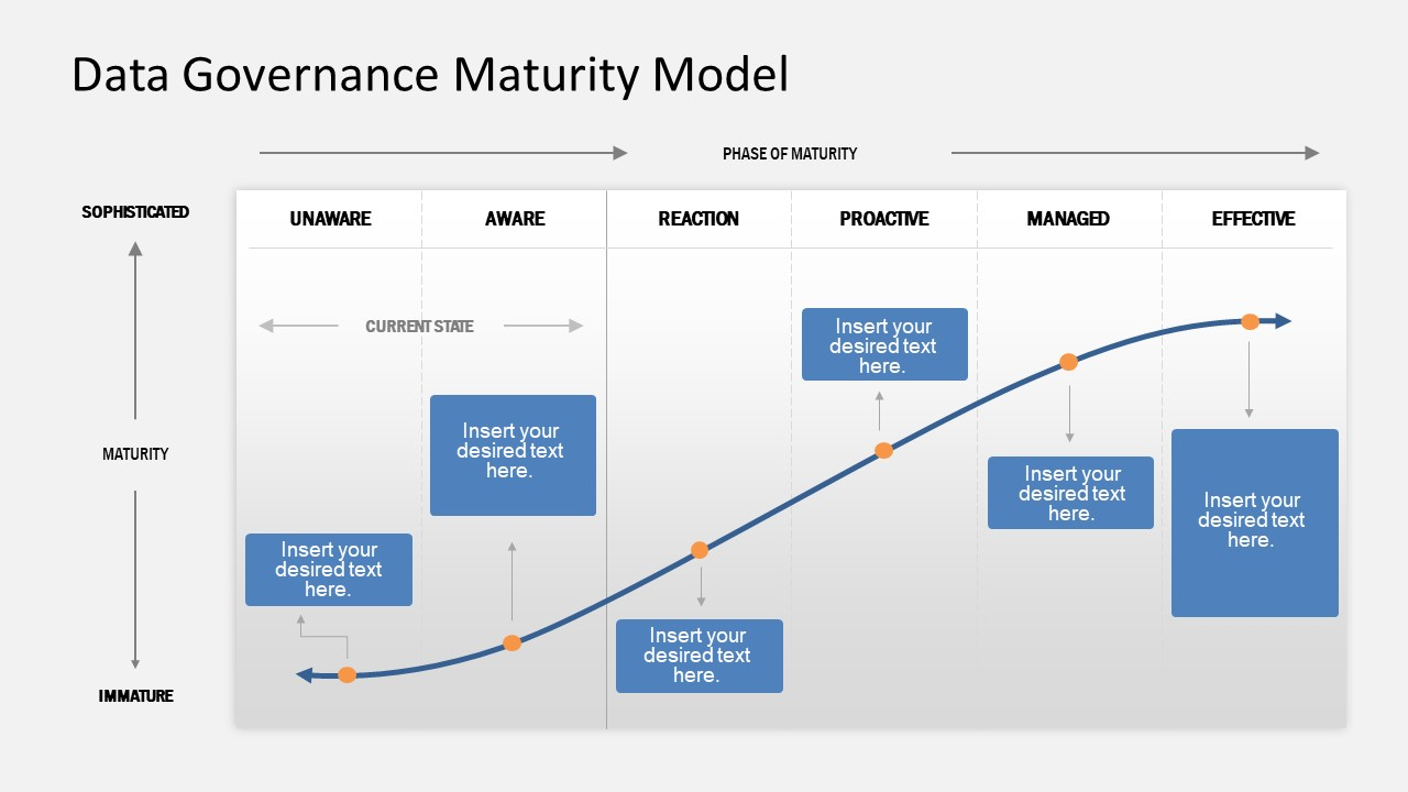 Presentation of Data Governance Maturity Chart