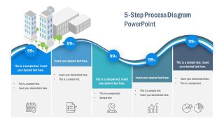 5-Step Horizontal Curved Process Diagram for PowerPoint