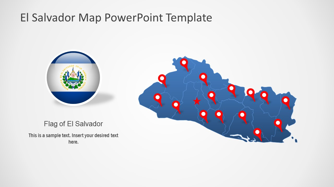 Map and Flag of El Salvador