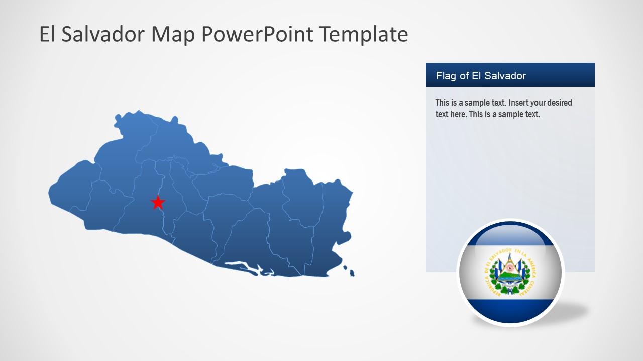 Location Map El Salvador Template