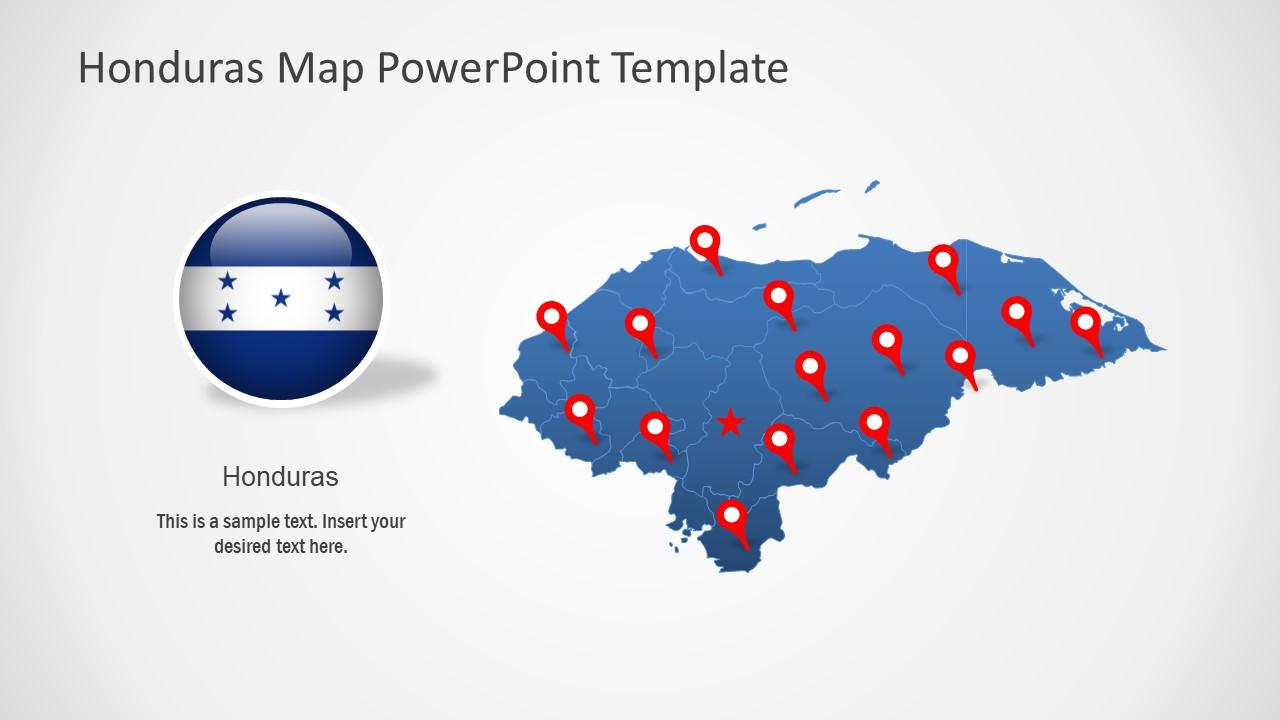PowerPoint Map of Honduras