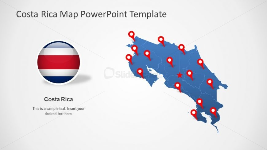 Presentation of Costa Rica Map