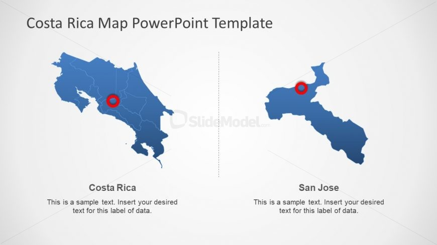 Outline Costa Rica PowerPoint Map