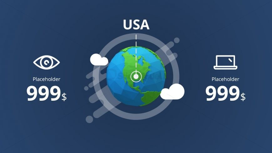 Infographic World Map PowerPoint