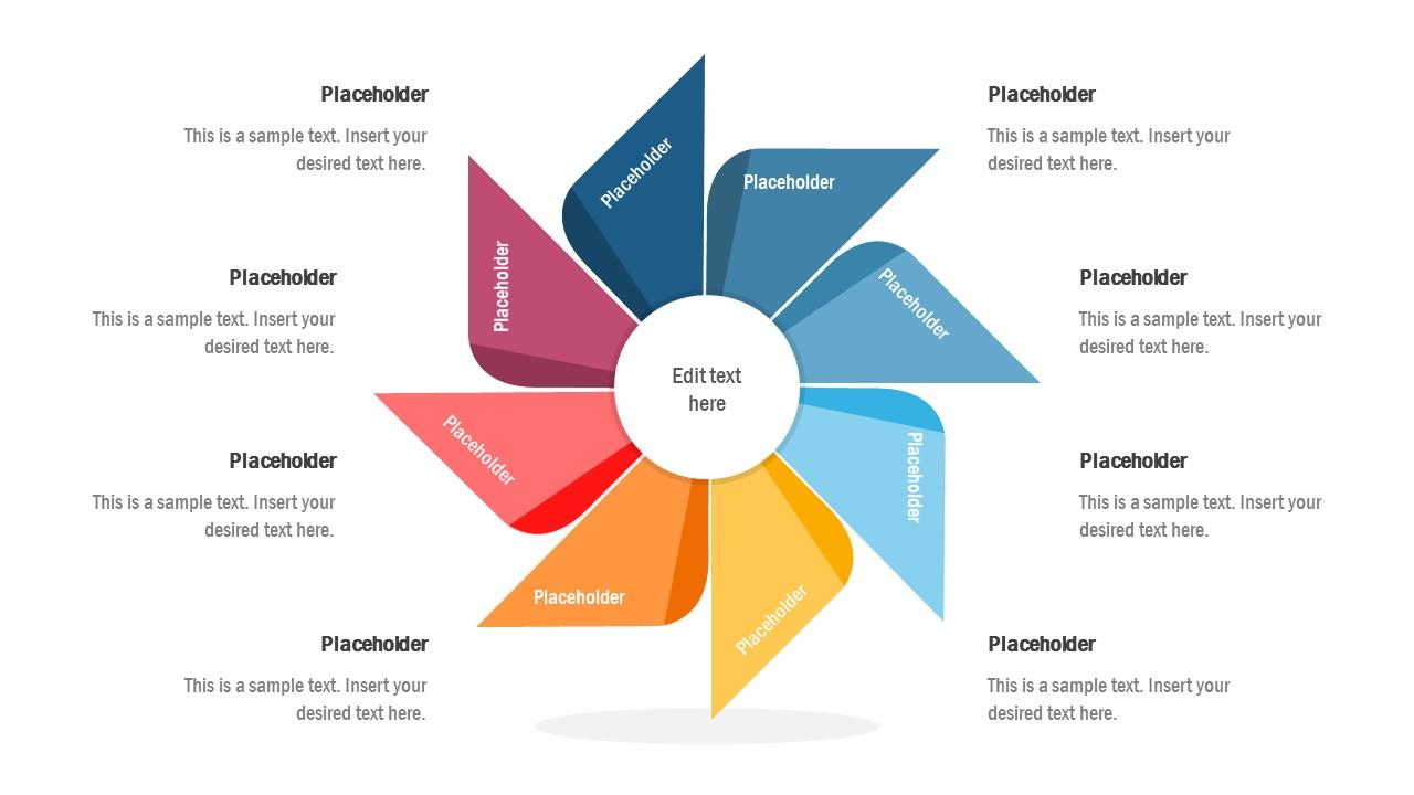 PowerPoint 8 Item Diagram PPT
