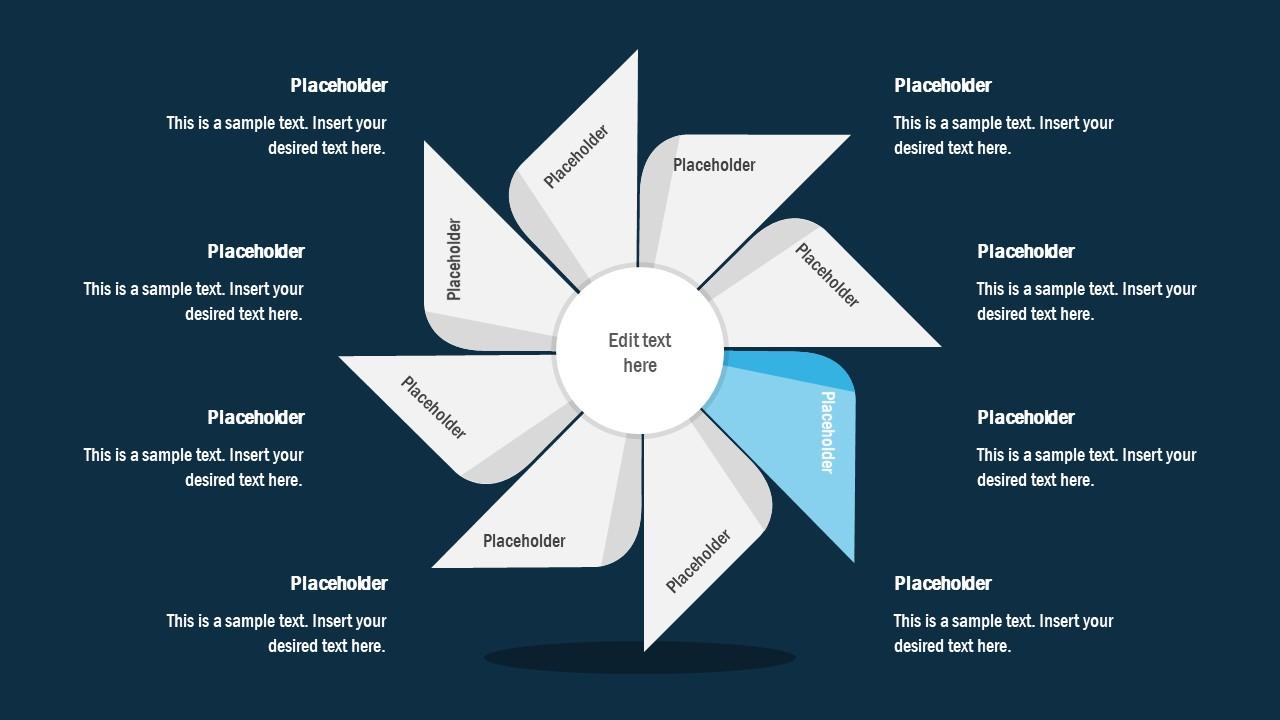 FlyWheel PowerPoint 3 Segment Process Cycle