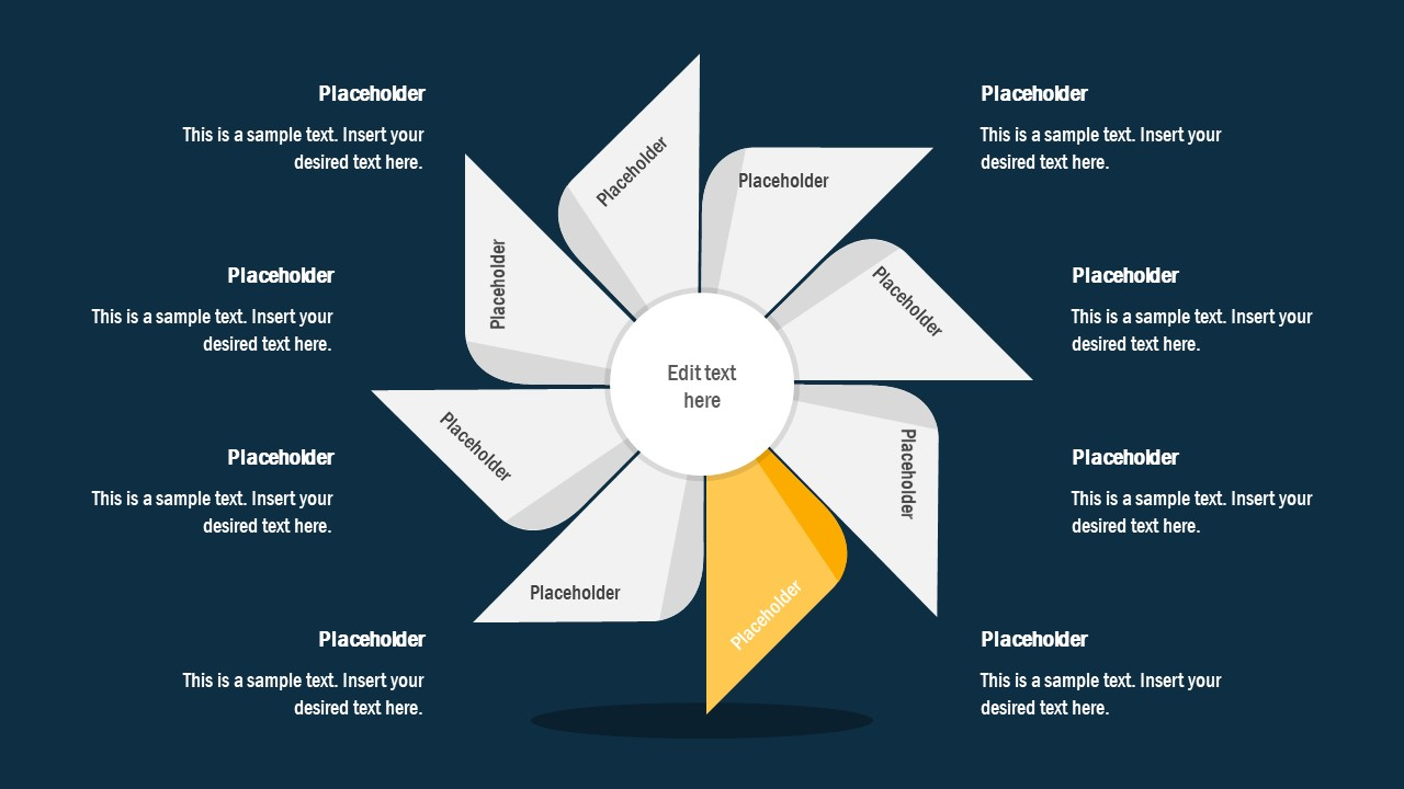 FlyWheel PowerPoint 4 Segment Process Cycle