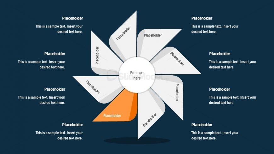 FlyWheel PowerPoint 5 Segment Process Cycle