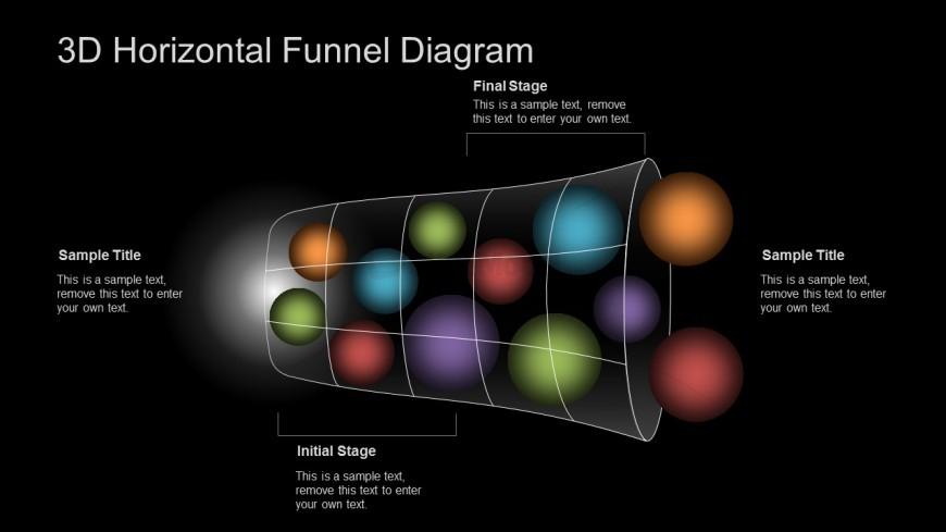 3D PPT Template Funnel Diagram