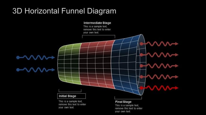 3D Editable PPT Funnel Diagram