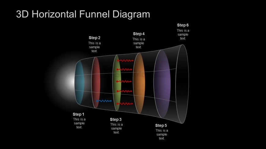 PPT Marketing Funnel Diagram 3D