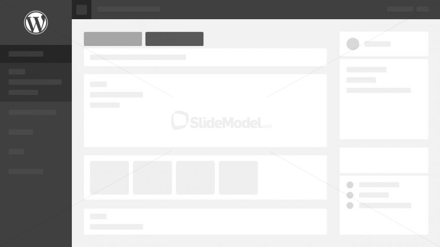 Black Wordpress Theme PowerPoint