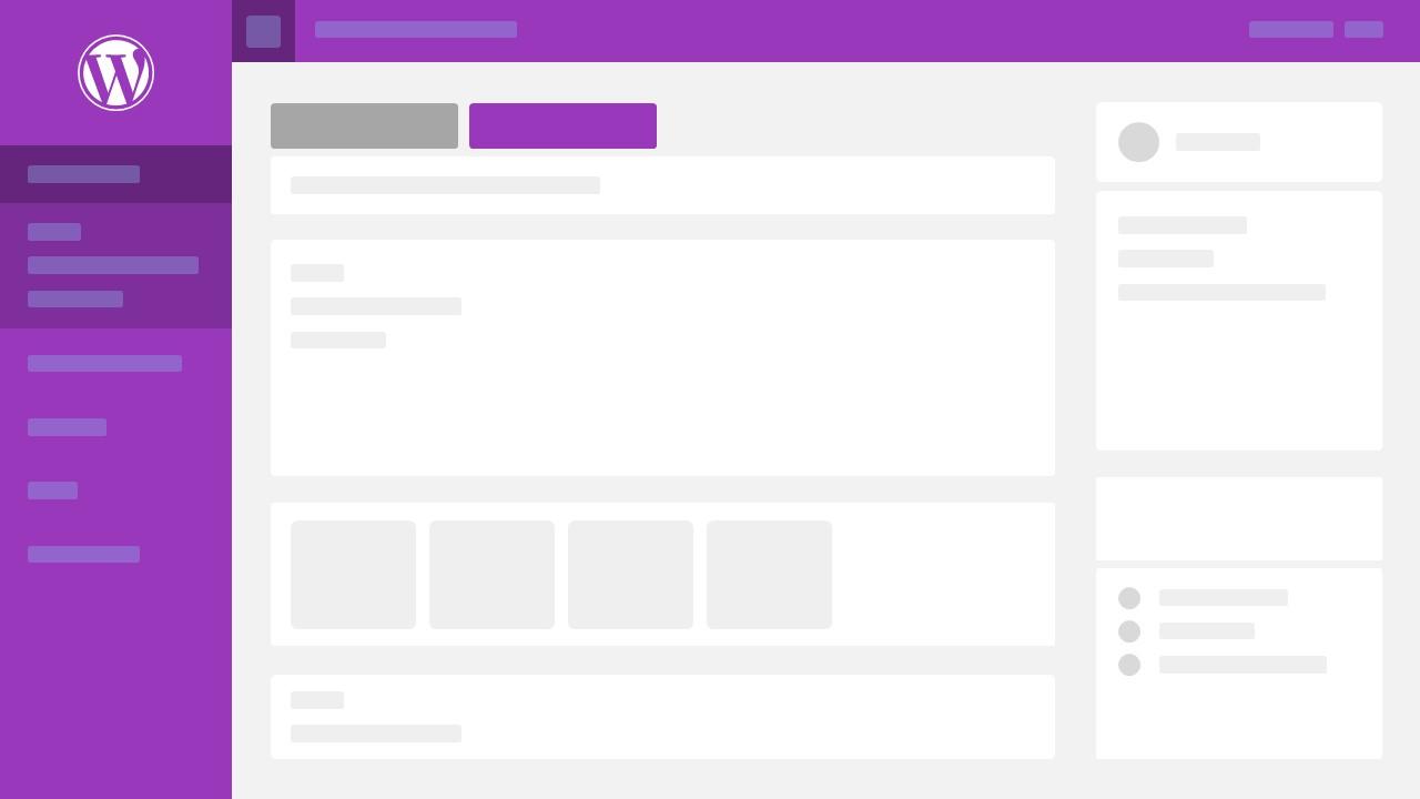 Purple Wordpress Theme PowerPoint