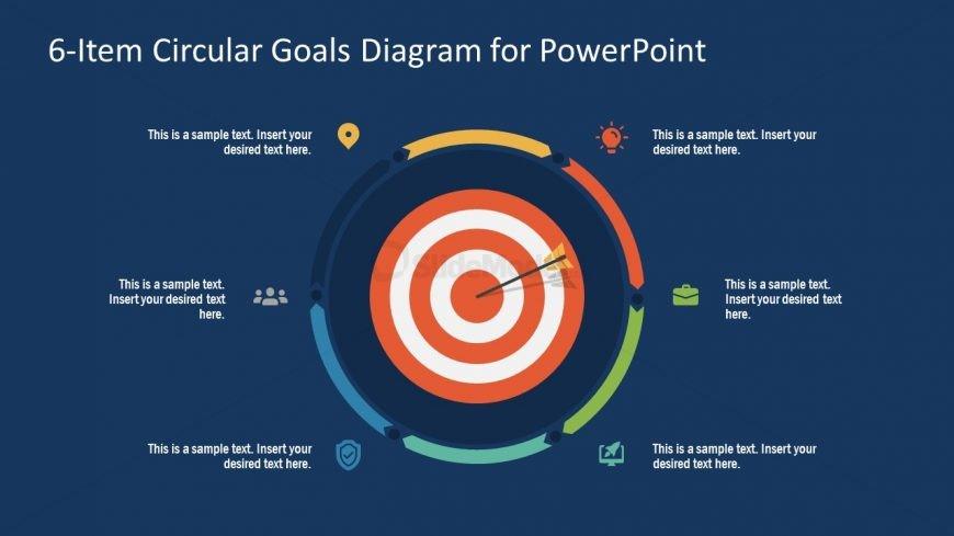 PowerPoint Step 5 Circular Goals Slide